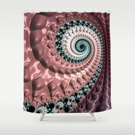 Lumpy Snail Shower Curtain