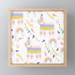 Llama & Rainbows Framed Mini Art Print