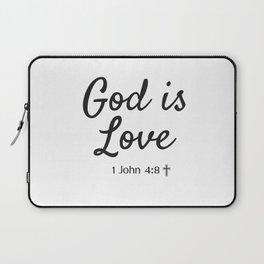 God is Love - Religious Art Laptop Sleeve
