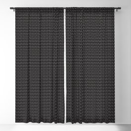 Guitars (Tiny Repeating Pattern on Black) Blackout Curtain
