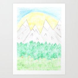 into the sunset Art Print