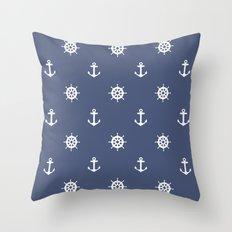 Nautical - Blue Throw Pillow