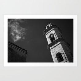 Bell tower Art Print