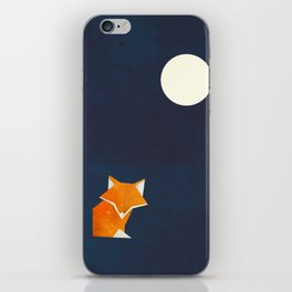 Origami Fox and Moon iPhone Skin