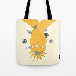 Everything Revolves Around Us Tote Bag