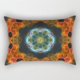 Fiery barnacle kaleidoscope Rectangular Pillow