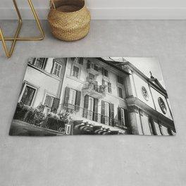 The romantic windows of Rome | Italy | Black & White Photography | Travel & Street Photography | Photo Print | Art Print Rug
