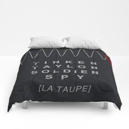 Tinker, Taylor, Soldier, Spy - MINIMALIST POSTER Comforters