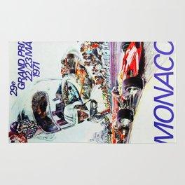 Gran Prix de Monaco, 1971, original vintage poster Rug