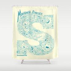 Monster Doodle - light version Shower Curtain