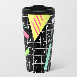 Memphis Style Vibes (Dark) Travel Mug