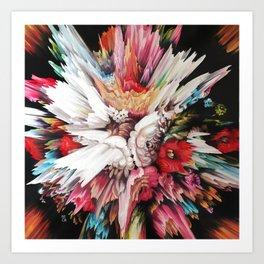 Floral Glitch II Art Print