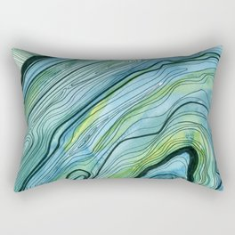 Blue Lace Agate I Rectangular Pillow