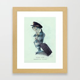 The Pilot (colour option) Framed Art Print