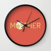 earthbound Wall Clocks featuring Mother / Earthbound Zero by Studio Momo╰༼ ಠ益ಠ ༽