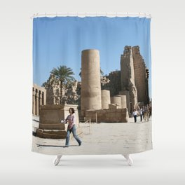 Temple of Luxor, no. 28 Shower Curtain