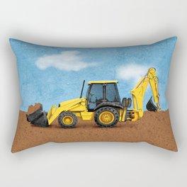 Construction Backhoe Rectangular Pillow
