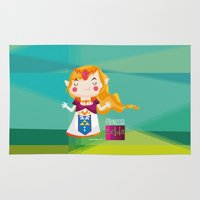 zelda Area & Throw Rugs featuring Zelda by suupergirl