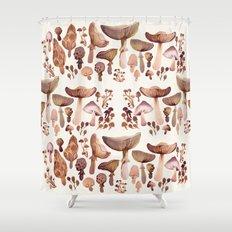 Watercolor Mushrooms Shower Curtain