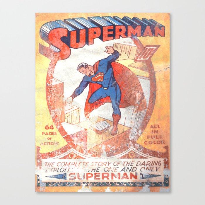 Superman Poster Canvas Print