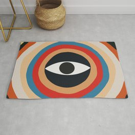 Third Eye Retro Colors Circle Rug