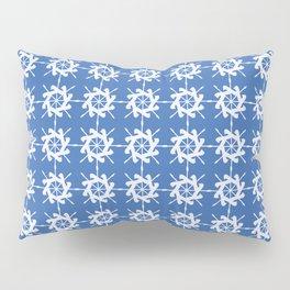 Abstract Ships Wheel Pattern Pillow Sham