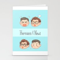 pacific rim Stationery Cards featuring Pacific Rim - Hermann and Newt by feriowind