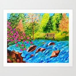 Creekside Beauty Art Print