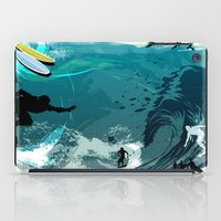 surfing iPad Cases featuring Surfing by Robin Curtiss