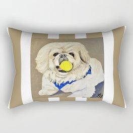 Peke Augie with ball Rectangular Pillow