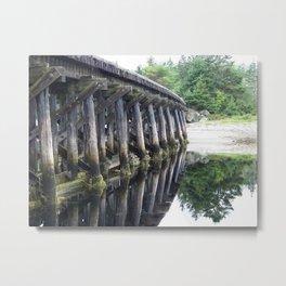 Old Bridge Trestle - Study # 1 Metal Print