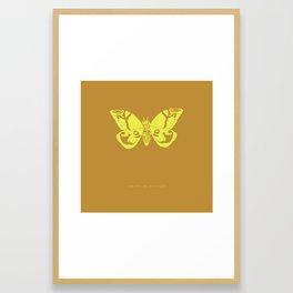 We Must Learn to Help Each Other -Mothra vs. Godzilla Framed Art Print