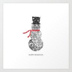 Happy Holidays Art Print