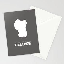 Kuala Lumpur State Map Stationery Cards