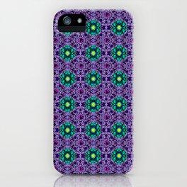 Dark Dahlia Pattern iPhone Case