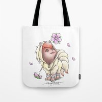 projectrocket Tote Bags featuring I too will Blossom by Randy C