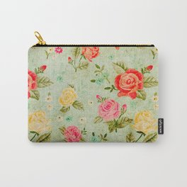 Grunge Floral Pattern 04 Carry-All Pouch