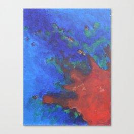 Splattered Peacock (3) Canvas Print