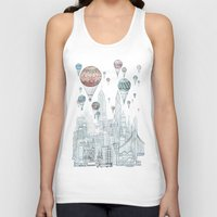 nyc Tank Tops featuring Voyages Over New York by David Fleck