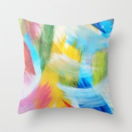 Feathery Swirl Throw Pillow