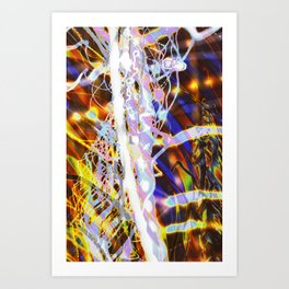 Light Dance - Rainbow Light Painting Art Print