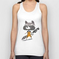 rocket raccoon Tank Tops featuring Rocket Raccoon by Rod Perich