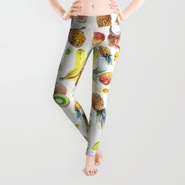 Tropical Fruits, Pina Colada, Fruit Punch tropical design Leggings