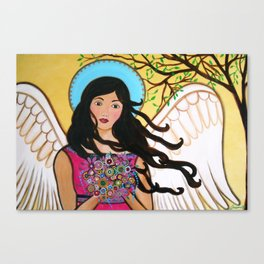 Whimsical Angel Grace Painting Canvas Print