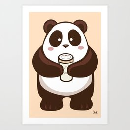 Coffee Panda Art Print