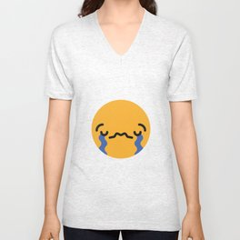 Emojis: Sad Unisex V-Neck