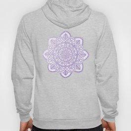 Lavender Mandala on White Marble Hoody