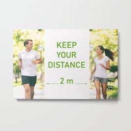 Keep social distance of two meters Metal Print
