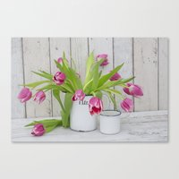 tulips Canvas Prints featuring Tulips by LebensART Photography