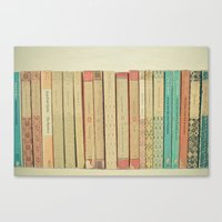 books Canvas Prints featuring Books by Cassia Beck